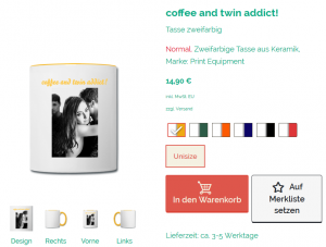 Twin Addict Tasse